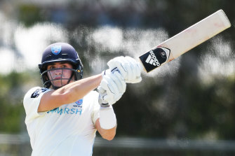 Sean Abbott scored a stunning century for NSW on Tuesday.