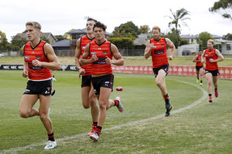 Bombers back in training.