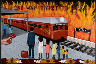 Aunty Fay Moseley's One Way Ticket to Hell artwork.