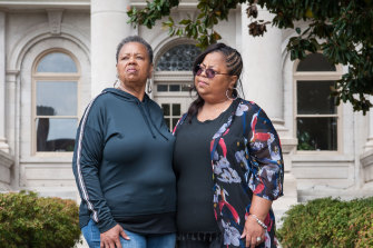 Ollie Gordon (left) with her daughter, Airickca Gordon-Taylor, cousins of Emmett Till, who say their family has never healed from his murder.