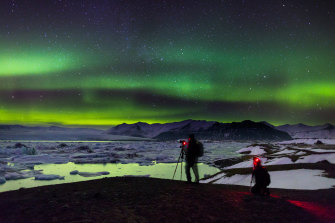 The northern lights are one of the highlights of Iceland in winter.