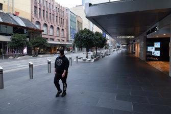 Bourke Street Mall on Saturday.