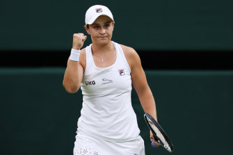 Ashleigh Barty has been in ominous form at Wimbledon.