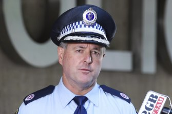 Assistant Commissioner Michael Willing at the Sydney Police Centre announces that Melissa Caddick's remains had been found.