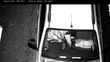 Cameras detected this driver using their mobile phone while driving at 116km/h in a 100 zone.
