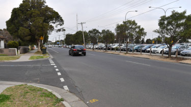 The stretch of road where the alleged hit-run took place.