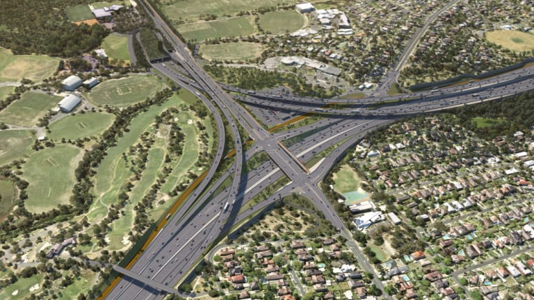 The North East Link interchange to be built in Bulleen.