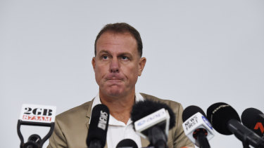 Alen Stajcic faces the media this week.