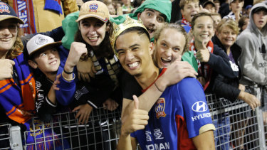 Joe Champness has been a popular figure with Newcastle Jets fans, but there is a chance they may never see him again.