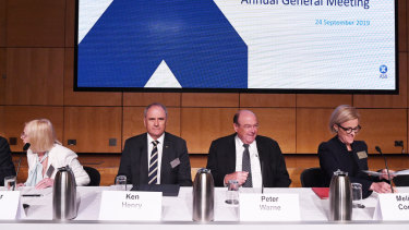 From left: ASX directors Heather Ridout, Ken Henry, Peter Warne and Melinda Conrad.
