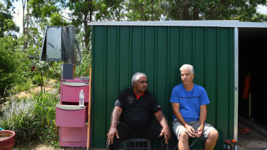 Ivan Wellington (left) and Eddie Burge are members of a local men's group in Airds.
