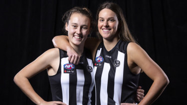 Magpie nest: Jordyn Allen (left) and Katie Lynch.