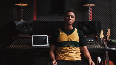 Rhymes of passion: injured Newcastle winger Joey Champness will combine his love of football and hip-hop on Saturday night.