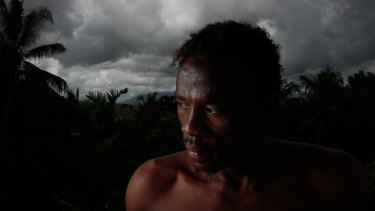 Dark days: Abdul Aziz Muhamat pictured in Port Moresby in 2017.