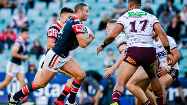 Contender: Blues skipper Boyd Cordner is also a chance.