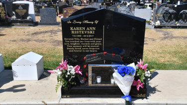 Karen Ristevksi's grave, with room for another plot.
