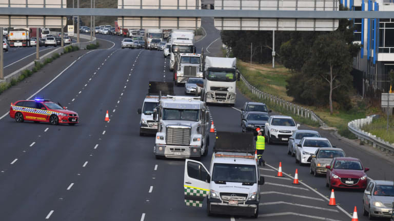 Inbound Traffic Is Diverted From The Princes Freeway