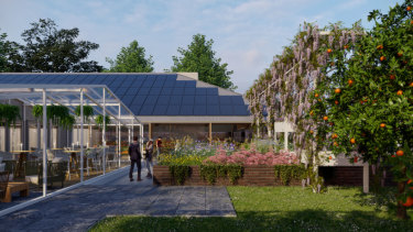 An artist's impression of the proposed Harris Farm in Turramurra.