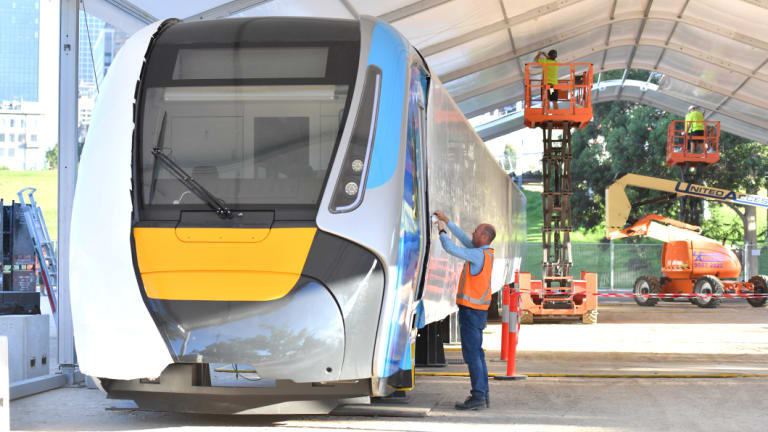 A Life-size model of the new high capacity train.