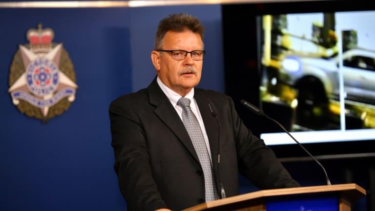 Detective Inspector Steve Wilson speaks to the media on Thursday.