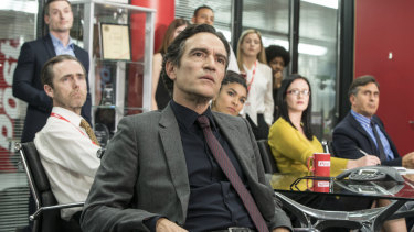 Ben Chaplin plays the oily tabloid editor of The Post in Press.