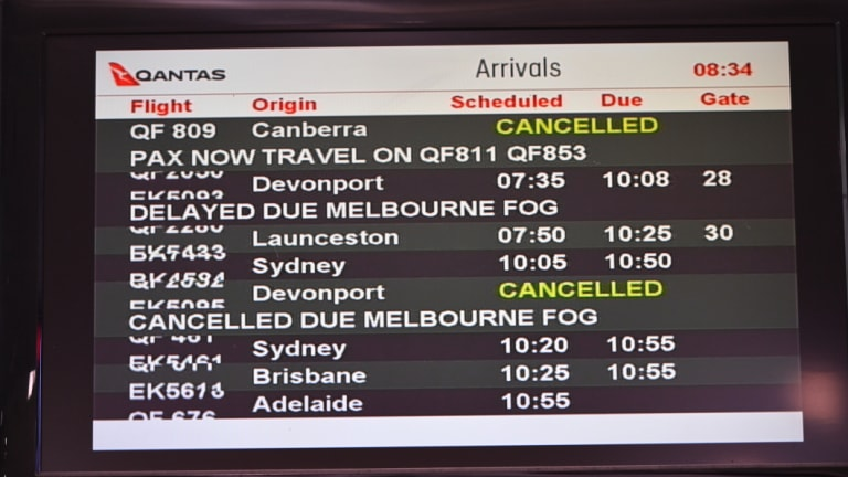 Air traffic has been affected by the heavy fog in Melbourne this morning.