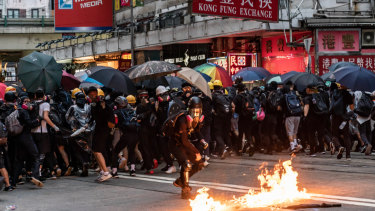 The protests in Hong Kong became heated over the weekend.