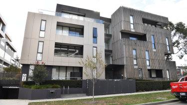 The Blackburn apartment block.
