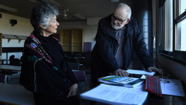 Marguerite Young, 65, and Alexander Burgic, 69, will sit their HSC maths exams again this year.