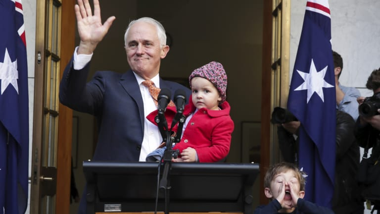 Malcolm Turnbull bids farewell after losing the leadership spill in August.