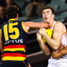 Giants' finals hopes slipping after Crows spring massive upset
