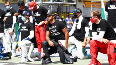 Lewis Hamilton along with 13 of his fellow drivers took a knee in support of the Black Lives Matter movement before the Austrian Grand Prix.