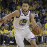 Warriors pip Rockets, Celtics smash Bucks to take 1-0 leads