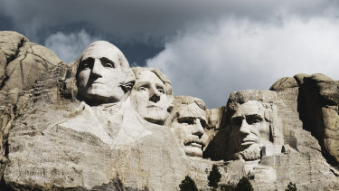 World famous Mount Rushmore National Monument.