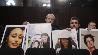 Families of the victims were at the hearing.