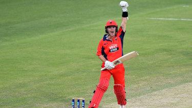 Adam Zampa batting in a one-dayer earlier this season for South Australia.