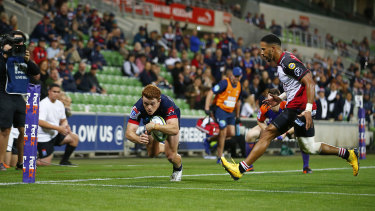 A coronavirus-infected fan attended the Rebels-Lions clash at AAMI Park on Saturday.