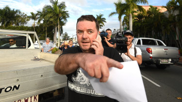 Luke Smith leaving the Beenleigh Watchhouse on Thursday morning.