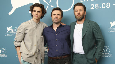 Chalamet, David Michod and Joel Edgerton at the Venice Film Festival last month.