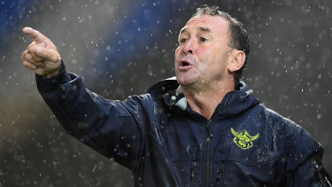 No amount of rain will keep Ricky Stuart off the sideline.