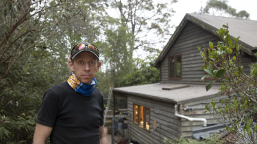 ACT's Minister for Climate Change and Sustainability Shane Rattenbury at his South Coast property.