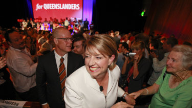 Then-premier Anna Bligh at a Labor election campaign launch.