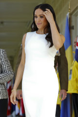 Meghan chose Australian designer Karen Gee for her first appearance.