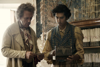 Hugh Laurie and Dev Patel in Armando Ianucci's adaptation of The Personal History of David Copperfield.