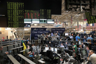 Traders trade VIX contracts at the Cboe Global Markets exchange