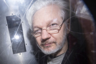 Julian Assange refrained from making political statements during his court appearance.