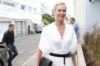 Lachlan and Sarah Murdoch arrive at the couple's 20th anniversary party at Bondi Icebergs.