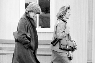 Princess Diana and Camilla Parker Bowles in 1980.