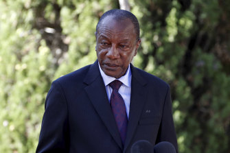 The Guinean military says it has detained President Alpha Conde.