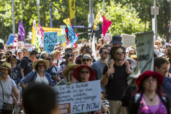Citizen activists: there has been a wave of climate change protests across the country.